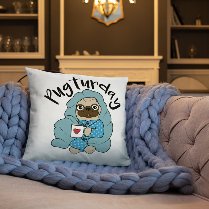Pugturday Pillow