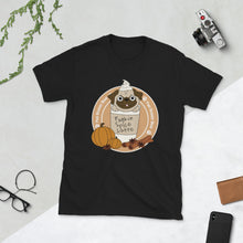 Load image into Gallery viewer, Pugkin Spice Latte Short-Sleeve Unisex T-Shirt