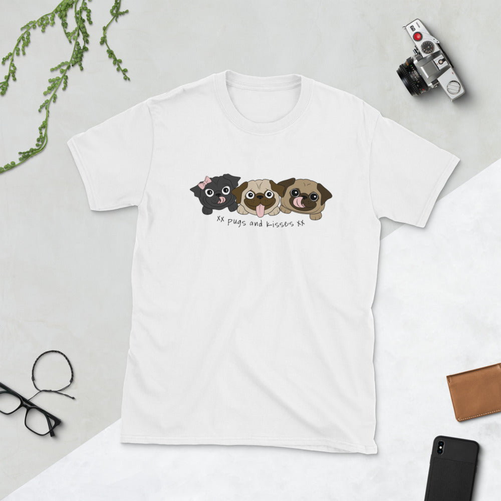 Pugs and Kisses Short-Sleeve Unisex T-Shirt