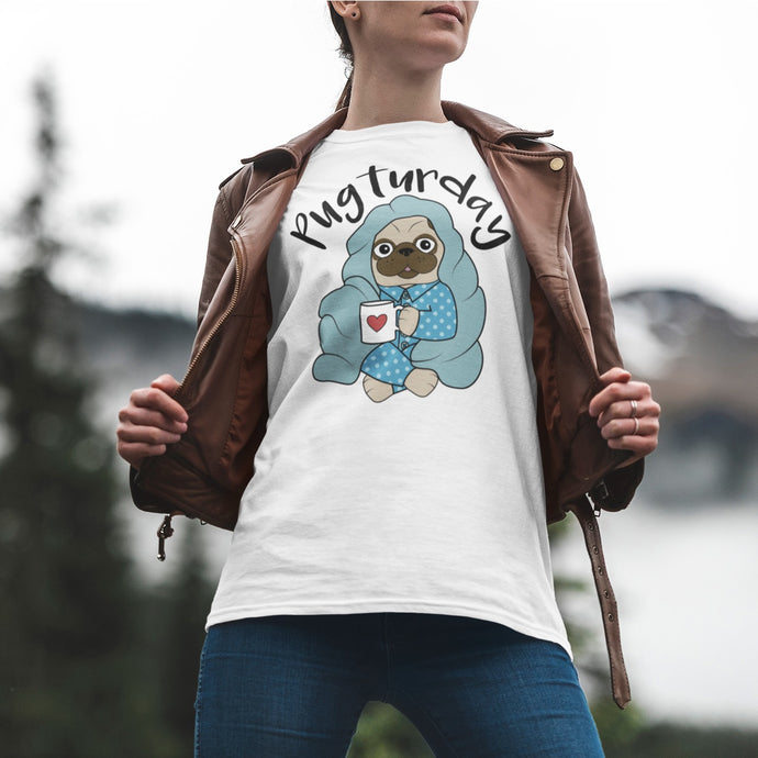 Pugturday Short-Sleeve Unisex T-Shirt