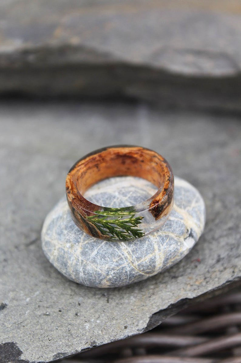 Juniper Birch Bark Ring
