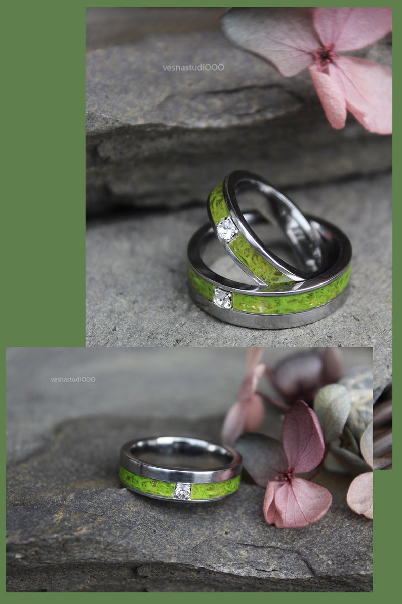 swarovski eco resin wedding ring
