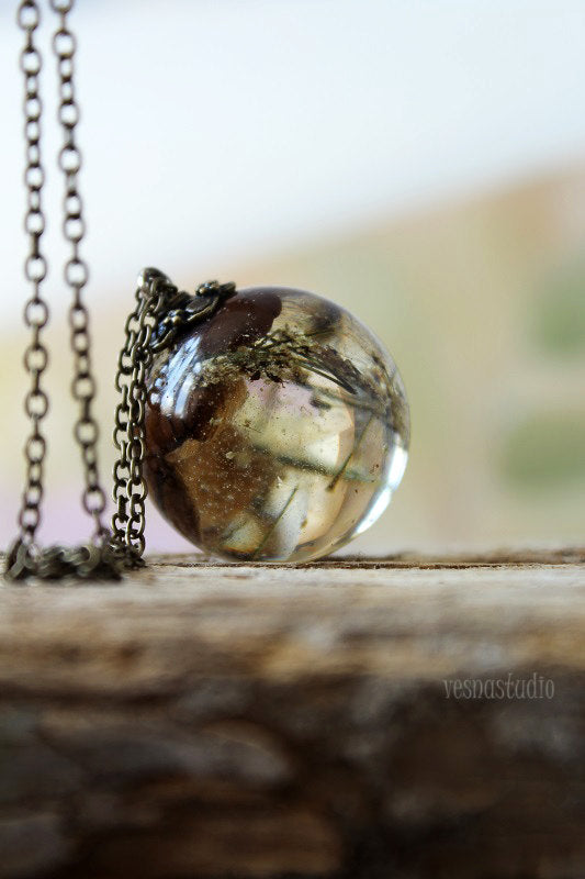 Coffee Bean Sphere Necklace
