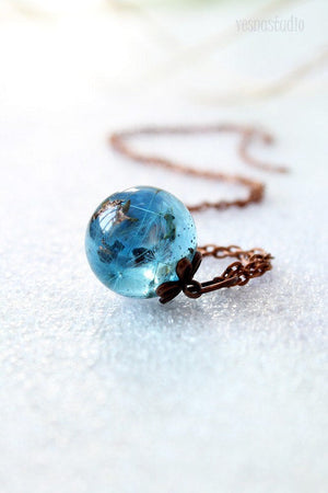 Dandelion Seed Copper Necklace