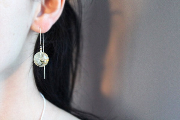 Dandelion Resin Earrings
