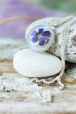 Purple Verbena Necklace