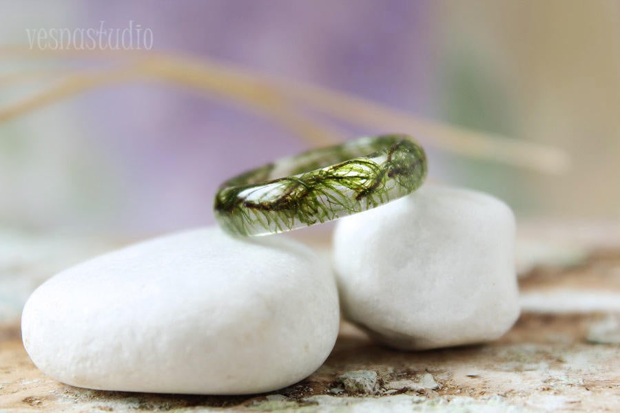 Green Moss Eco Ring