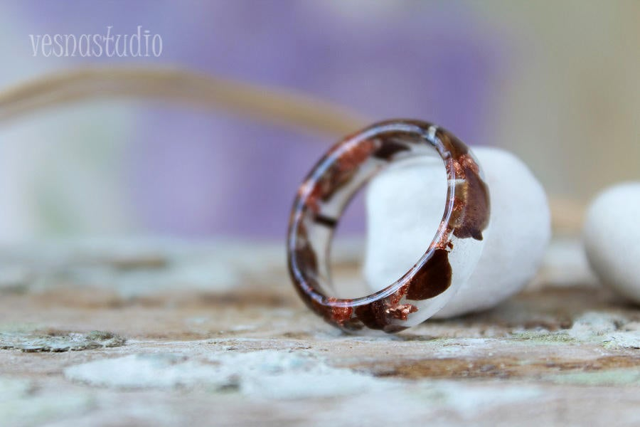 Coffee Beans Resin Ring