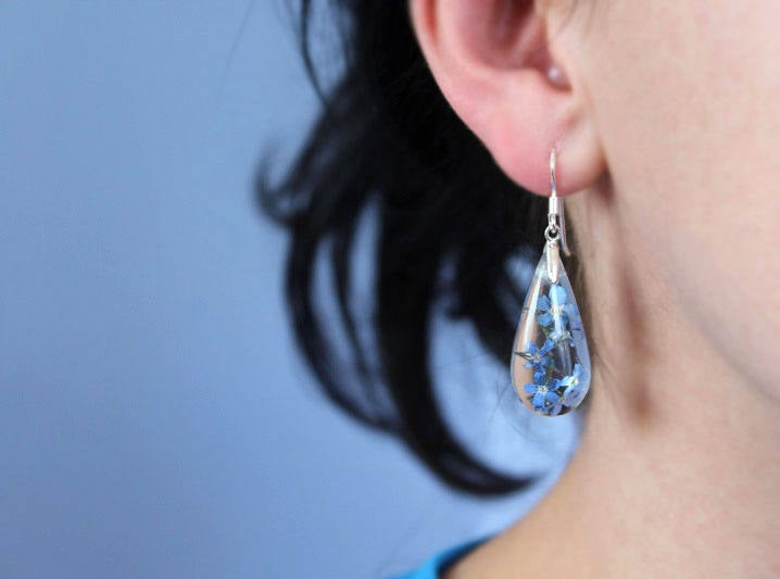 Forget-me-not Drop Earrings