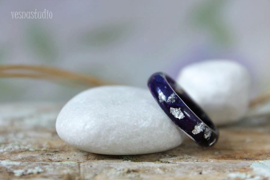Dark Blue and Purple Cocktail Ring