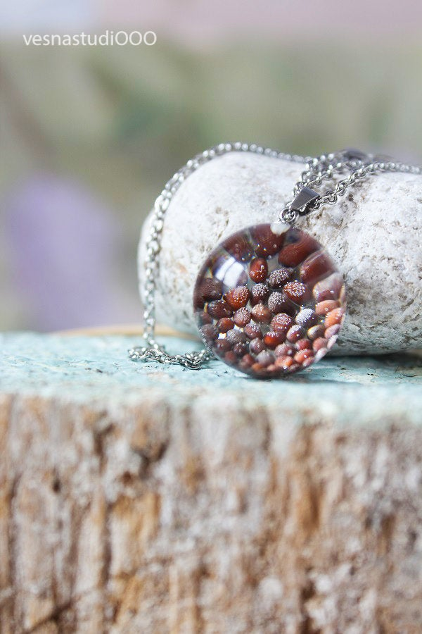 Black Mustard Seed Necklace