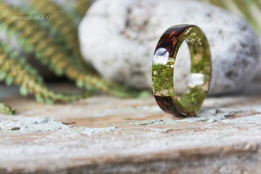 Birch Bark Boho Ring