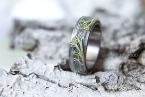 Gray Wood Minimalist Ring