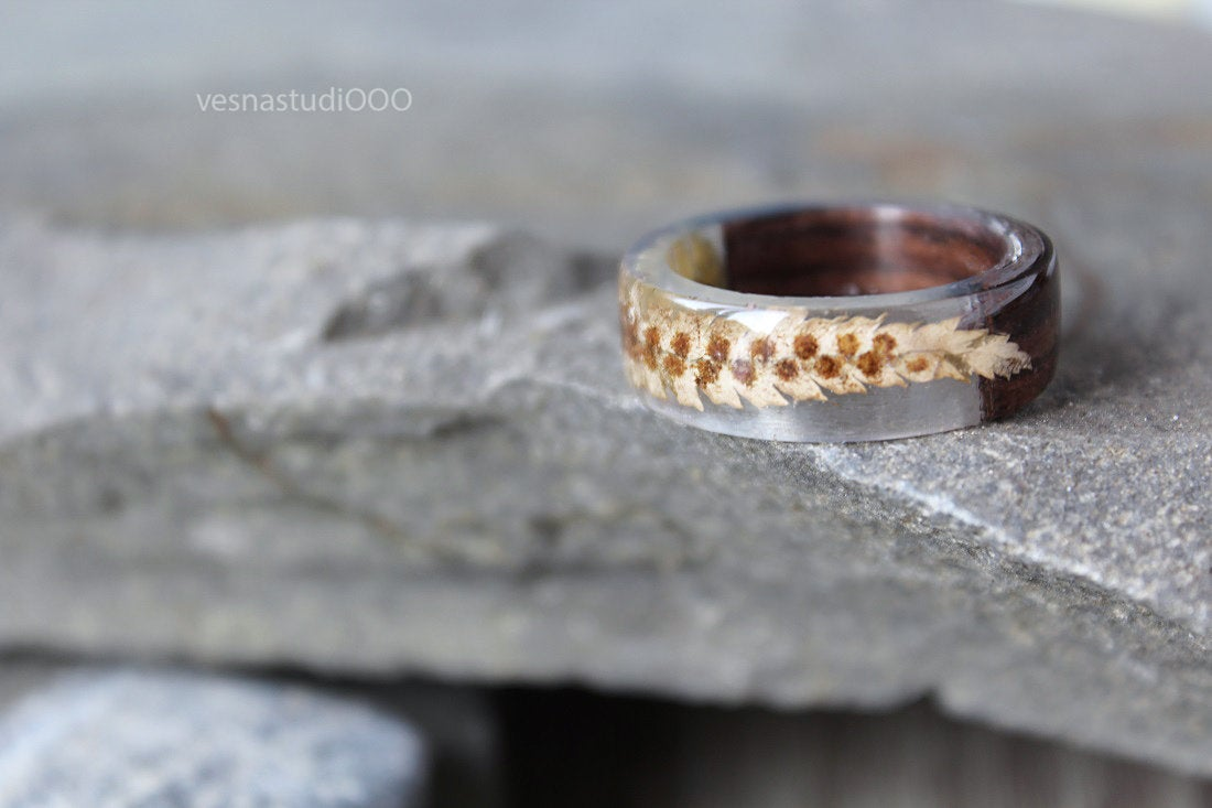 Brown Celtic Wood Ring
