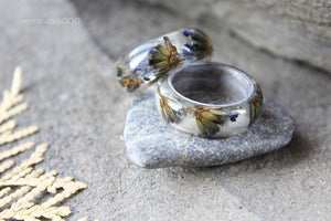 Lavender Boho Wood Ring