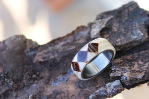 White Wood Ring