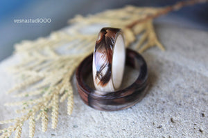 Celtic Falcon's Feather Ring