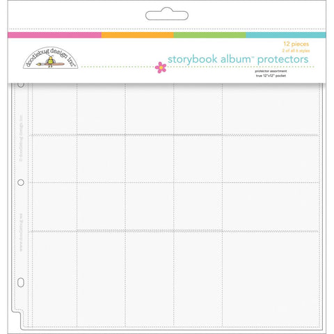 "Doodlebug Page Protector Assortment 12""X12"" 12/Pkg - 2 Each Of All 6 Styles - Variety"