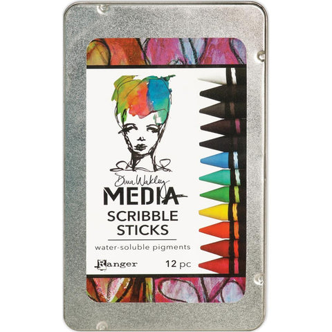 Dina Wakley Media Scribble Sticks 12/Pkg