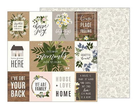 "Jen Hadfield Heart Of Home Double-Sided Cardstock 12""X12"" - Heart Of The Home"