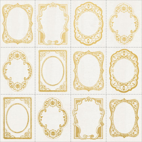 "Romantique Foiled Cardstock 12""X12"" - Frame Cut-Outs W/Gold"