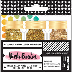 Vicki Boutin Mixed Media Mixology Accents .6oz 3/Pkg - Gold