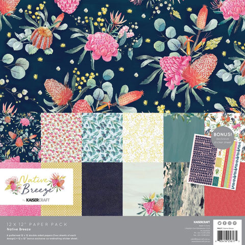 "Native Breeze - Kaisercraft -  Paper Pack 12""X12"" 12/Pkg"
