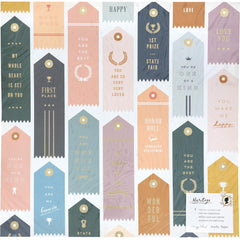 "Heritage - Maggie Holmes - Crate Paper - Double-Sided Foiled Cardstock 12""X12"" - Trophies W/Gold Foil"