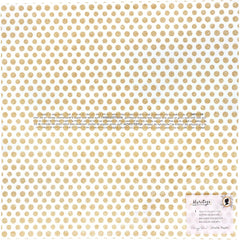 "Heritage - Maggie Holmes - Crate Paper - Single-Sided Acetate 12""X12"" - Gratitude W/Gold Glitter"