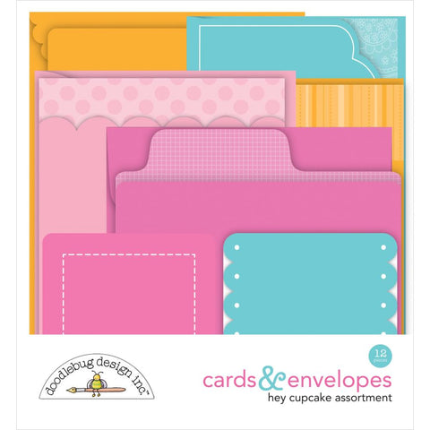 Hey Cupcake - Doodlebug - Cards & Envelopes 12/Pkg