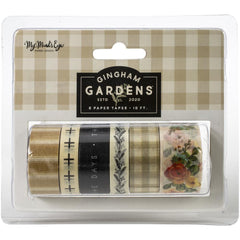 Gingham Gardens - My Mind's Eye - Washi 6/Pkg 10' Per Roll