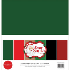 "Dear Santa - Carta Bella - Double-Sided Cardstock 12""X12"" 6/Pkg - Solids"