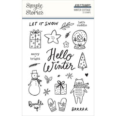 Winter Cottage - Simple Stories - Photopolymer Clear Stamps