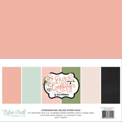 "Our Wedding - Echo Park - Double-Sided Cardstock 12""X12"" 6/Pkg - Solids"