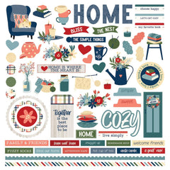 "Heart & Home  - Photo Play - Cardstock Stickers 12""X12"" - Elements"