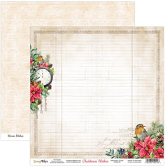 "Christmas Wishes - ScrapBoys - 12""X12"" Patterned Paper - 01"