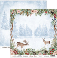 "Winter Time - ScrapBoys - 12""X12"" Patterned Paper - 01"