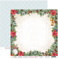 "Christmas Wishes - ScrapBoys - 12""X12"" Patterned Paper - 02"