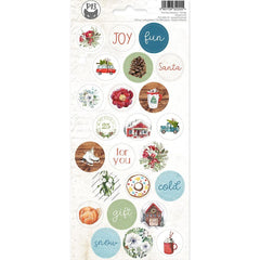 "The Four Seasons - Winter  - P13 - Cardstock Stickers 4""X9"" #03"