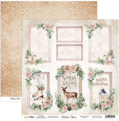 "Winter Time - ScrapBoys - 12""X12"" Patterned Paper - 06"