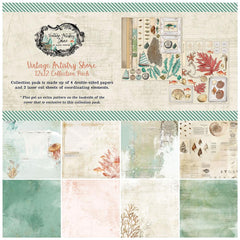 "Vintage Artistry Shore - 49 & Market - Collection Pack 12""X12"""