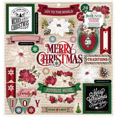 "Joyful Christmas - BoBunny - Chipboard Stickers 12""X12"""