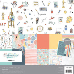 "Crafternoon - Kaisercraft - Paper Pack 12""X12"" 12/Pkg"