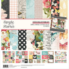 "Simple Vintage Cottage Fields - Simple Stories - Collection Kit 12""X12"""