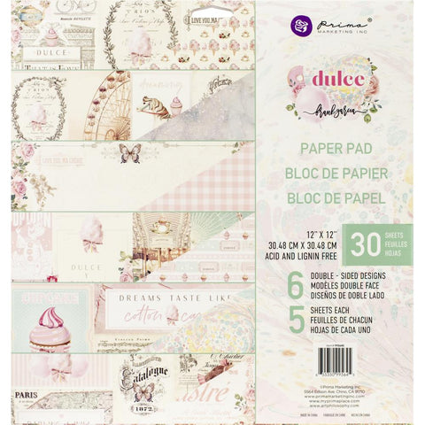 "Dulce By Frank Garcia - Prima Marketing - Double-Sided Paper Pad 12""X12"" 24/Pkg"