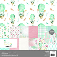 "Little Treasures - Kaisercraft - Paper Pack 12""X12"" 12/Pkg"