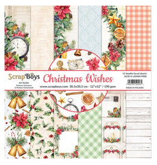 "Christmas Wishes - ScrapBoys - 12""X12"" Patterned Paper Pad"