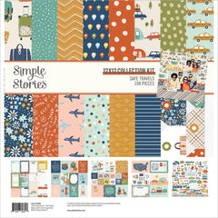 "Safe Travels - Simple Stories - Collection Kit 12""X12"""