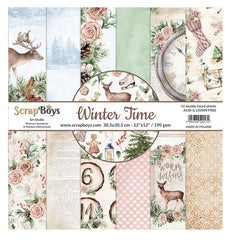 "Winter Time - ScrapBoys - 12""X12"" Patterned Paper Pad"