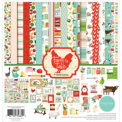 "Farm To Table - Carta Bella - Collection Kit 12""X12"""